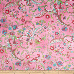 Minky Prints Sweet Pea Pink Fabric