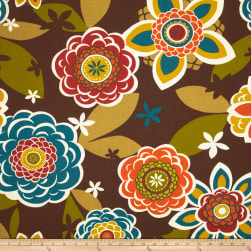 Richloom Solarium Outdoor Annie Chocolate Fabric