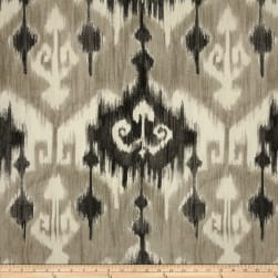 Richloom Marlena Ikat Graphite Fabric