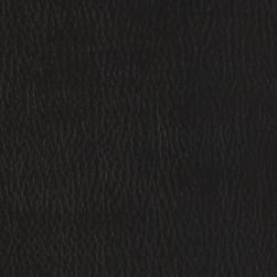 Flannel-Backed Faux Leather Deluxe Black Fabric