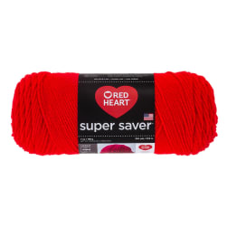 Red Heart Super Saver Yarn Hot Red