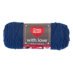 Red Heart Yarn With Love 1814 True Blue