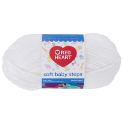 Red Heart Yarn Soft Baby Steps 9600 White