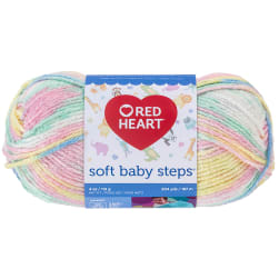 Red Heart Yarn Soft Baby Steps 9930 Binky Print