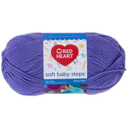 Red Heart Yarn Soft Baby Steps 9536 Light Grape