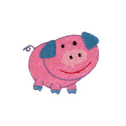 Pig Applique Hot Pink
