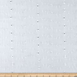Eyelet Allover White Fabric