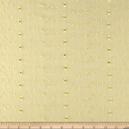 Eyelet Allover Yellow Fabric