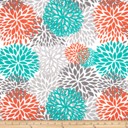 Premier Prints Indoor/Outdoor Blooms Pacific Fabric