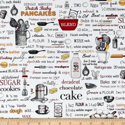 Kiss The Cook Recipes White Fabric