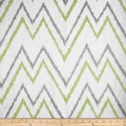 Duralee Home Embroidered Levi Chevron Celery