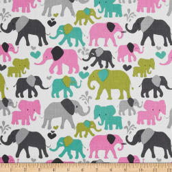 Michael Miller Elephant Walk Orchid Fabric