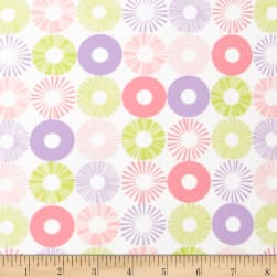 Cozy Cotton Flannel Circles Pastel Fabric