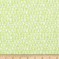Cozy Cotton Flannel Alphabet Pistachio