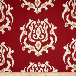 Terrasol Indoor/Outdoor Pamilla Ikat Chili Pepper Fabric