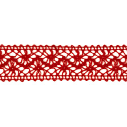 1 1/2'' Crochet Ribbon Red