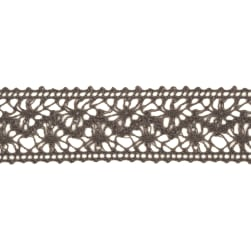 "1 1/2"" Crochet Ribbon Pewter"