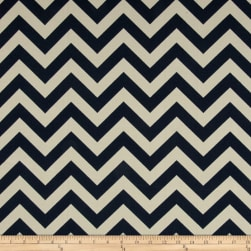 Premier Prints Indoor/Outdoor Zig Zag Deep Blue Fabric