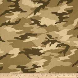 Camo Army Camo Tan Fabric
