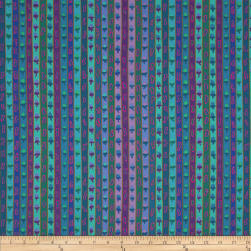 Kaffe Fasset Ribbon Stripe Blue Fabric