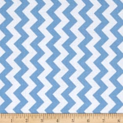 Riley Blake Medium Small Chevron Blue Fabric