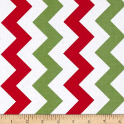 Riley Blake Medium Chevron Christmas Fabric