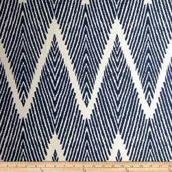 Lacefield Bali Chevron Navy Chalk Fabric