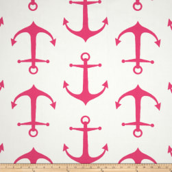 Premier Prints Anchor Candy Pink/White Fabric