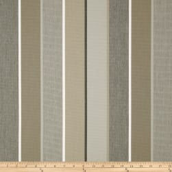 Sunbrella Outdoor Canvas Stripe Milano Charcoal Fabric