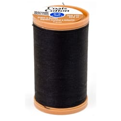 Coats & Clark Machine Quilting Cotton Thread 350 yd. Black