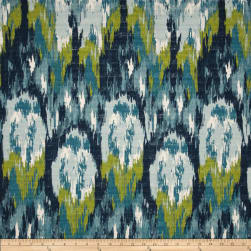 Premier Prints Ikat Craze Birch Frost Barkcloth Fabric