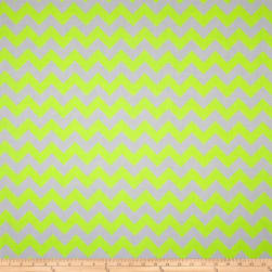Riley Blake Chevron Neon Yellow