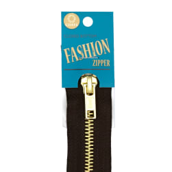 Coats & Clark Fashion Brass Closed Bottom Zipper