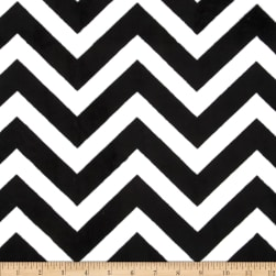 Shannon Minky Cuddle Chevron Black/Snow