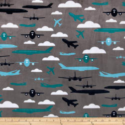 Shannon Kaufman Minky Cuddle Aviator Teal Fabric