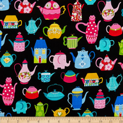 Teapots Black/Multi Fabric