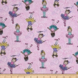 Tippy Toes Glitter Tossed Ballerinas Pink/Multi Fabric