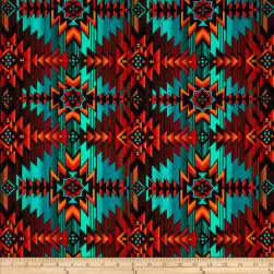 Timeless Treasures Southwest Blanket Turquoise Fabric