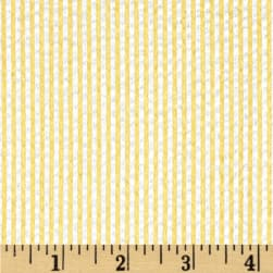 Kaufman Classic Seersucker Stripe Lemon Fabric