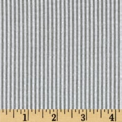 Kaufman Classic Seersucker Stripe Grey Fabric