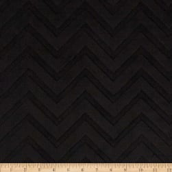 Shannon Minky Cuddle Embossed Chevron Black Fabric