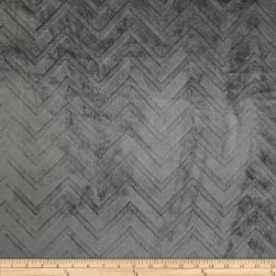 Shannon Minky Embossed Chevron Cuddle Charcoal Fabric