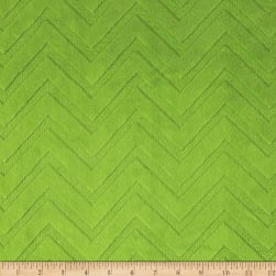 Shannon Minky Embossed Chevron Cuddle Jade