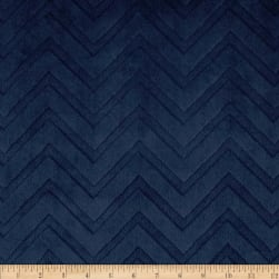 Shannon Minky Embossed Chevron Cuddle Navy Fabric