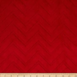 Shannon Minky Embossed Chevron Cuddle Red
