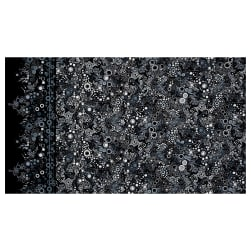 Effervescence Single Border Mod Bubbles Ebony Fabric