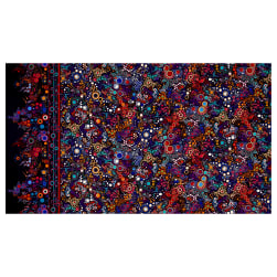 Kaufman Effervescence Single Border Mod Bubbles Bright Fabric