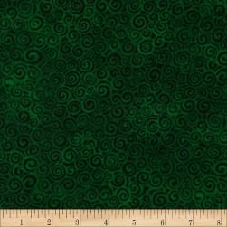 Laural Burch Swirls Dark Green Fabric