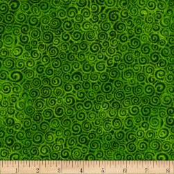 Laural Burch Swirls Light Green Fabric