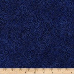 Laural Burch Swirls Dark Royal Fabric